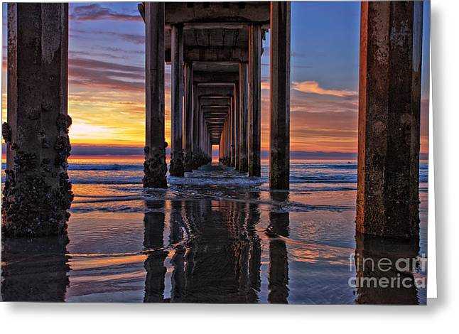 Under The Scripps Pier Greeting Card