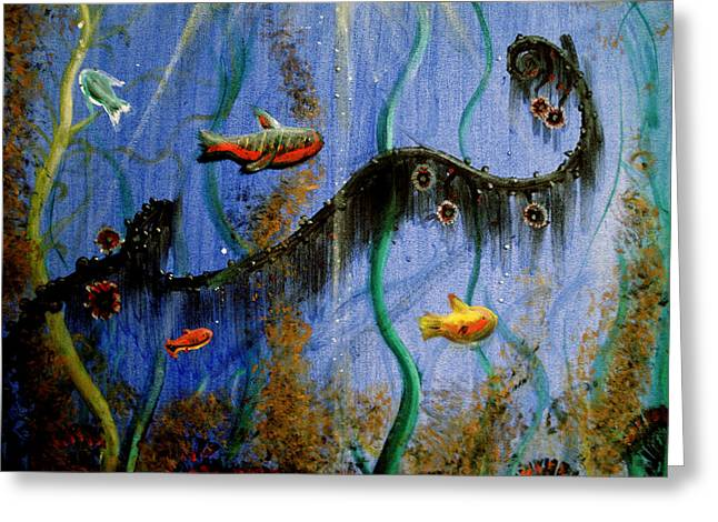 Under The Sea Greeting Card by Carrie Jackson