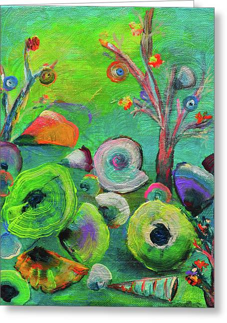 under the sea  - Orig painting for sale Greeting Card