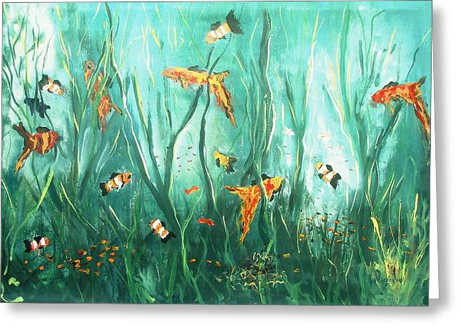 under the sea I Greeting Card by Miroslaw  Chelchowski