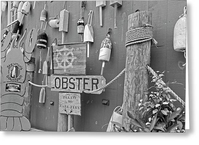 Under The Ship's Wheel Bw Greeting Card
