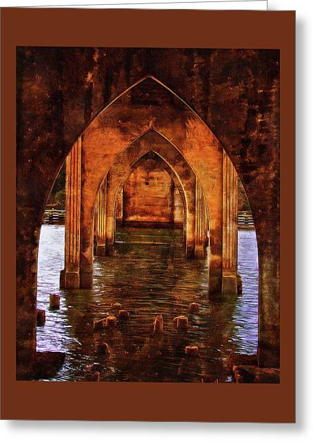 Greeting Card featuring the photograph Under The Siuslaw River Bridge by Thom Zehrfeld