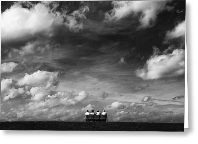 Under The Sky Greeting Card by Hans-wolfgang Hawerkamp