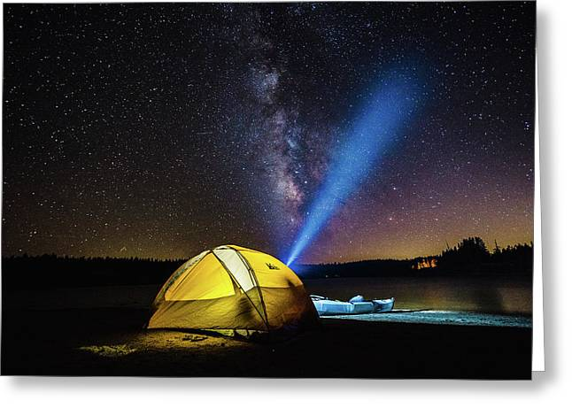 Under The Stars Greeting Card by Alpha Wanderlust