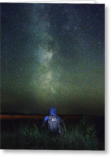 Under The Stars Greeting Card by Michael Kosachyov