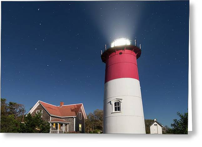 Under The Stars Square Greeting Card by Bill Wakeley
