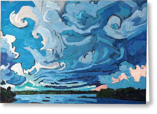 Under The Storm Greeting Card by Phil Chadwick