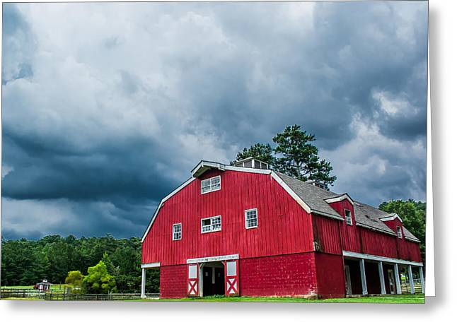 Under The Stormy Skies Greeting Card by Shelby  Young
