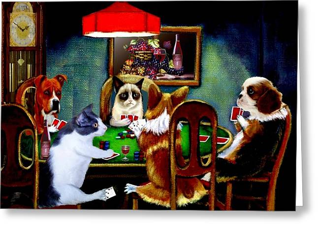 Under The Table 2 Greeting Card