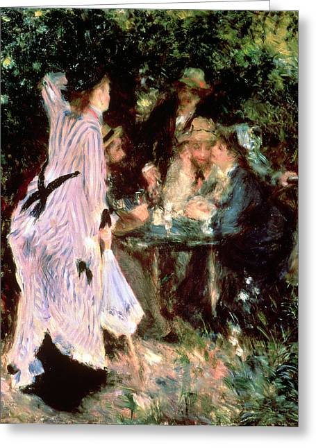 Under The Trees Of The Moulin De La Galette Greeting Card by Pierre Auguste Renoir