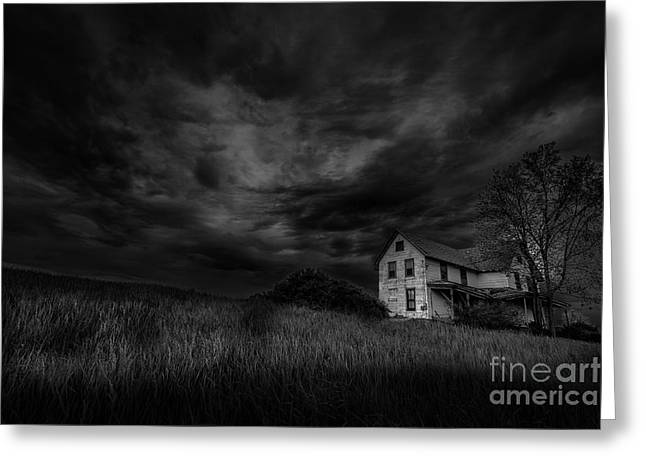 Under Threatening Skies Greeting Card