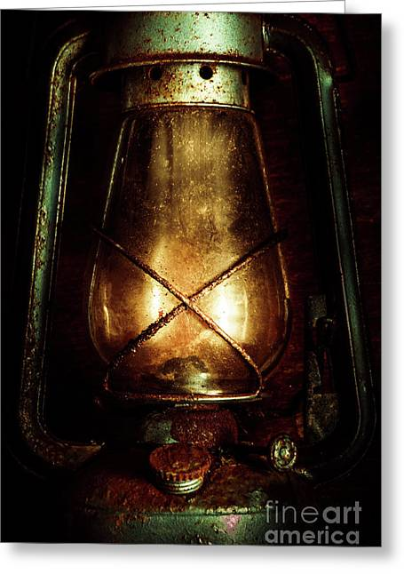 Underground Mining Lamp  Greeting Card by Jorgo Photography - Wall Art Gallery