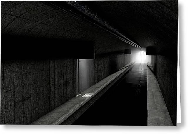 Underground Sewer Greeting Card