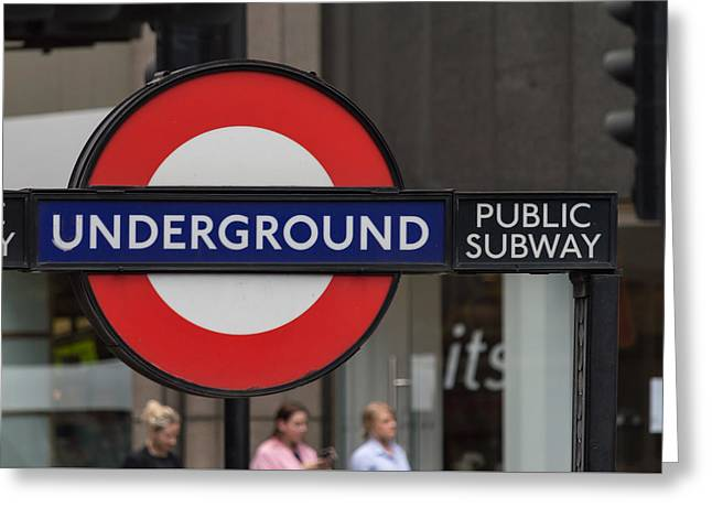 Underground Sign London Greeting Card
