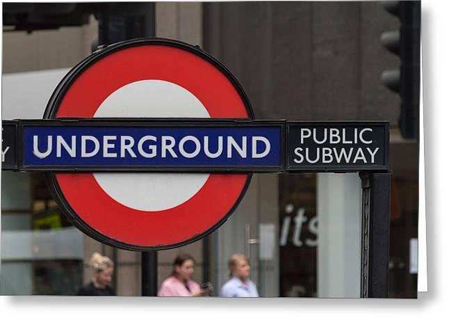 Underground Sign London Greeting Card