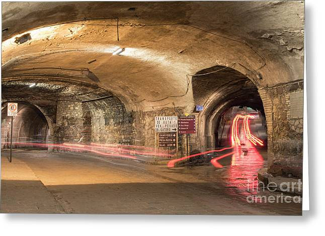 Underground Tunnels In Guanajuato, Mexico Greeting Card by Juli Scalzi