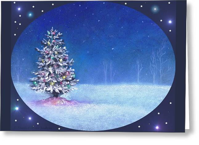 Underneath December Stars For Cards And Gifts Greeting Card