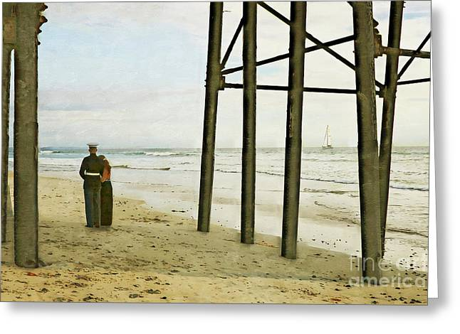 Underneath The Pier Greeting Card