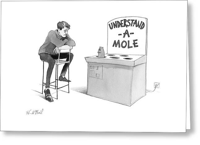 Understand-a-mole Greeting Card