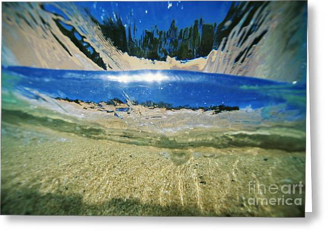 Underwater Breaker Greeting Card by Vince Cavataio - Printscapes