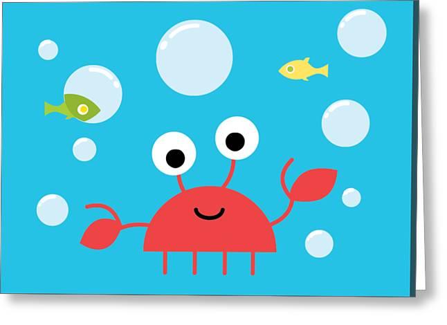 Underwater Crab Greeting Card by Pbs Kids