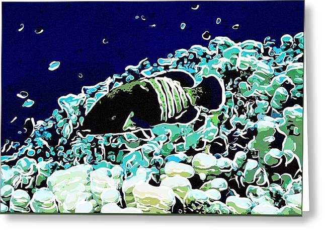 Underwater Fish 22 Greeting Card by Lanjee Chee