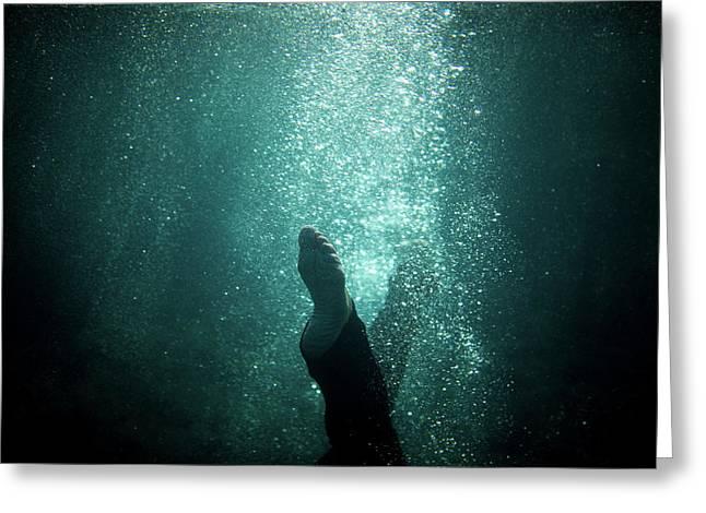 Underwater Foot Greeting Card
