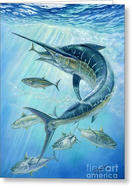 Underwater Hunting Greeting Card