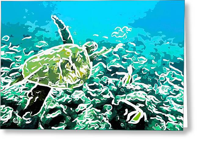 Underwater Landscape 1 Greeting Card by Lanjee Chee
