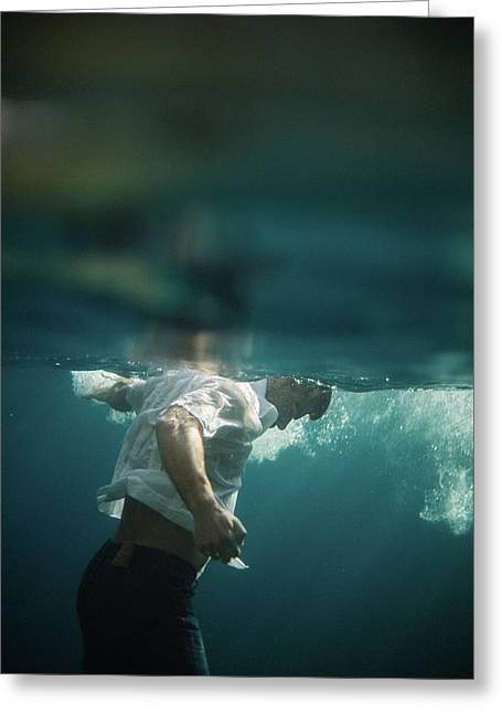Underwater Man Greeting Card