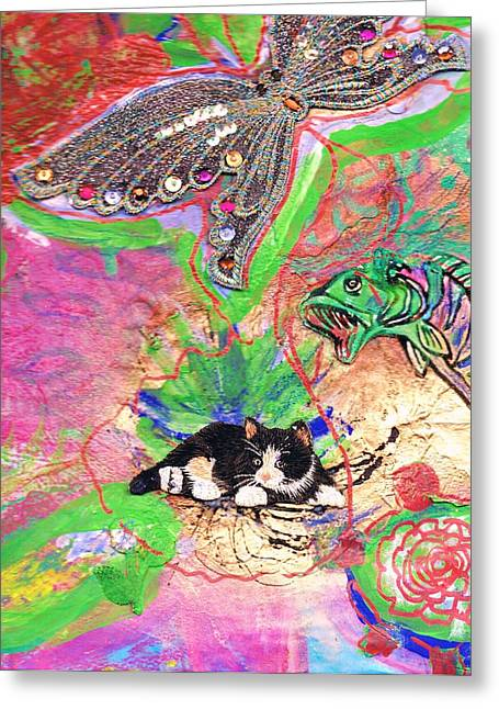 Underwater Menagerie Greeting Card by Anne-Elizabeth Whiteway