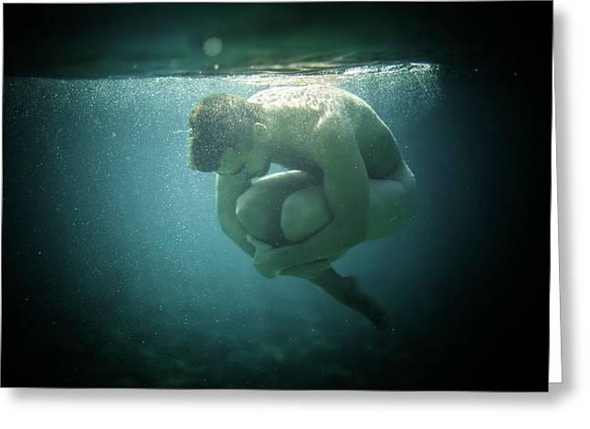 Underwater Rock Greeting Card