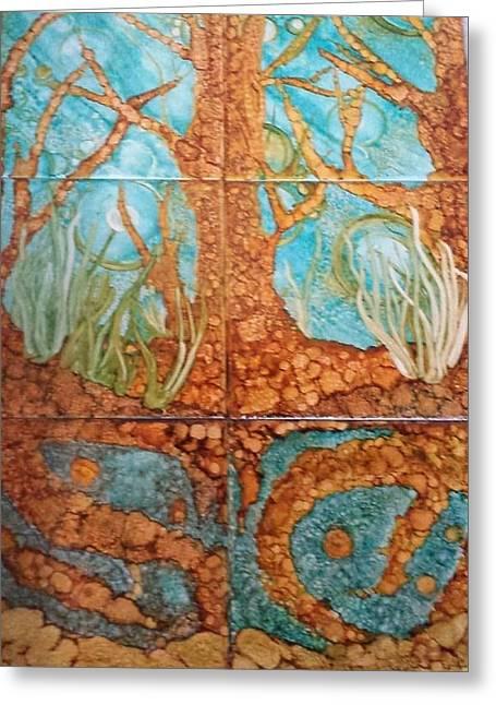 Underwater Trees Greeting Card