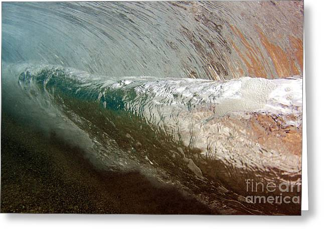 Underwater View Of A Breaking Wave Greeting Card by Vince Cavataio