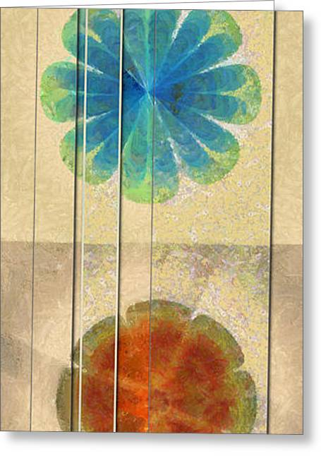 Undrivable Stripped Flowers  Id 16164-224507-00531 Greeting Card
