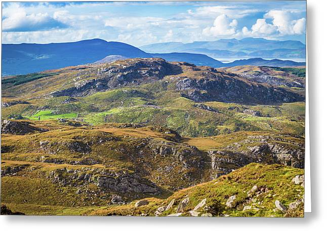 Greeting Card featuring the photograph Undulating Landscape In Kerry In Ireland by Semmick Photo