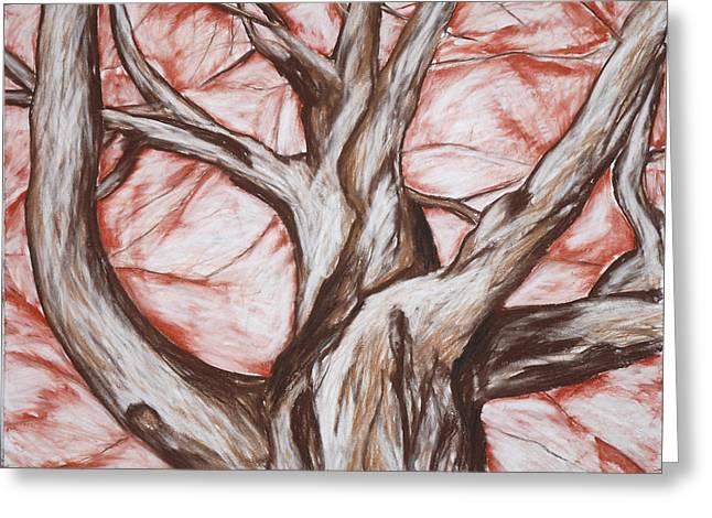 Undulating Tree Greeting Card by John Terwilliger