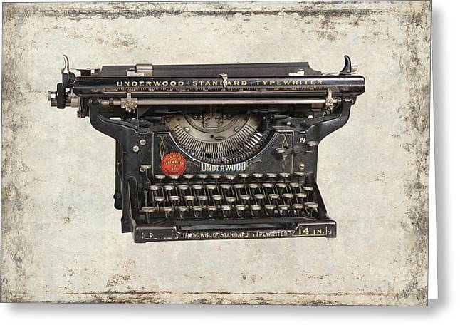 Unerwood Standard Typewriter Greeting Card by Daniel Hagerman