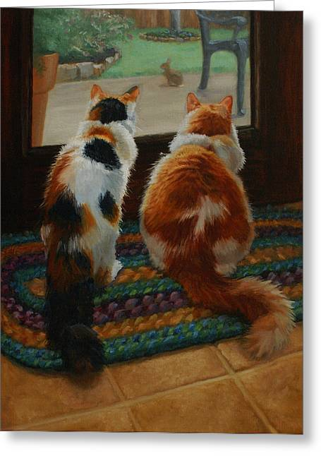 Unexpected Guest Greeting Card by Vicky Gooch