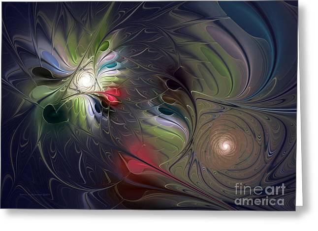 Greeting Card featuring the digital art Unfading by Karin Kuhlmann