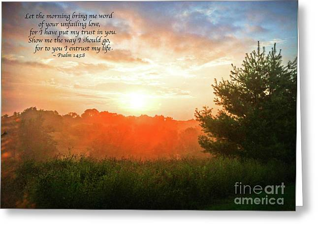 Greeting Card featuring the photograph Unfailing Love by Kerri Farley