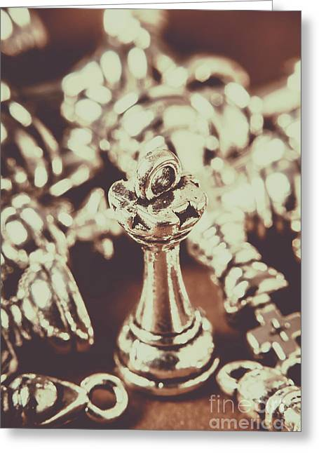 Unfallen Tower Of The Chess Game Greeting Card by Jorgo Photography - Wall Art Gallery