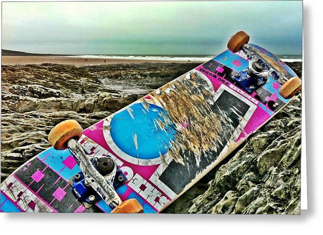 Croyde Greeting Cards - Unfamiliar Terrain Greeting Card by Sean Maguire