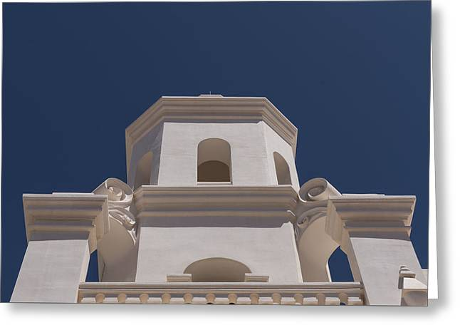 Unfinished Bell Tower - Mission San Xavier Del Bac - Tucson Arizona Greeting Card