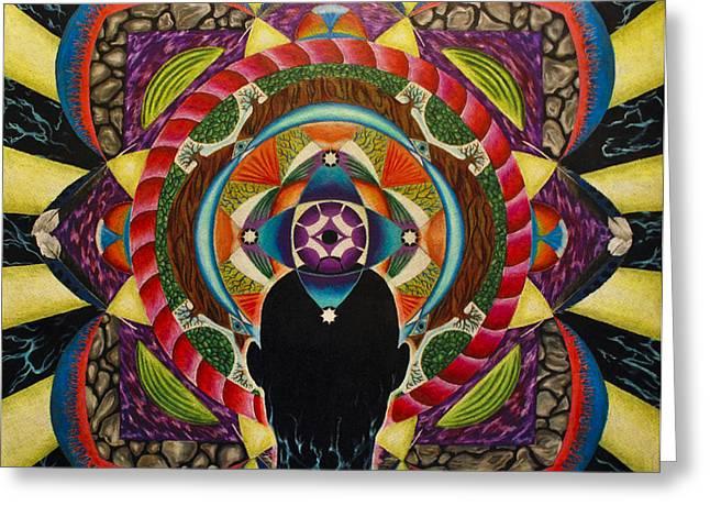 Unfolding Spirit Greeting Card by Matthew Fredricey