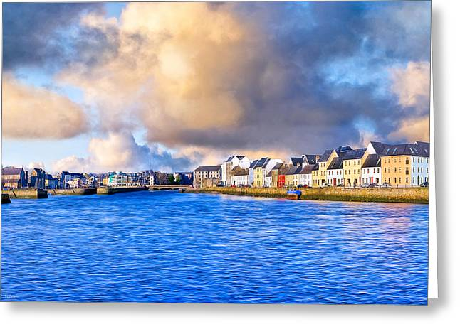 Unforgettable Galway Seaside Greeting Card by Mark Tisdale