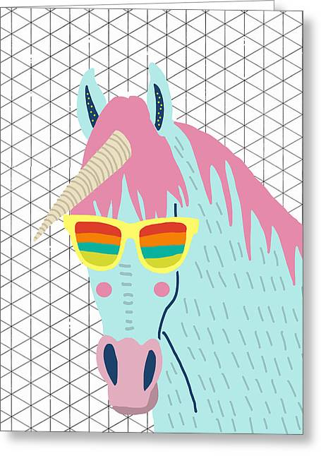 Unicorn Greeting Card by Nicole Wilson