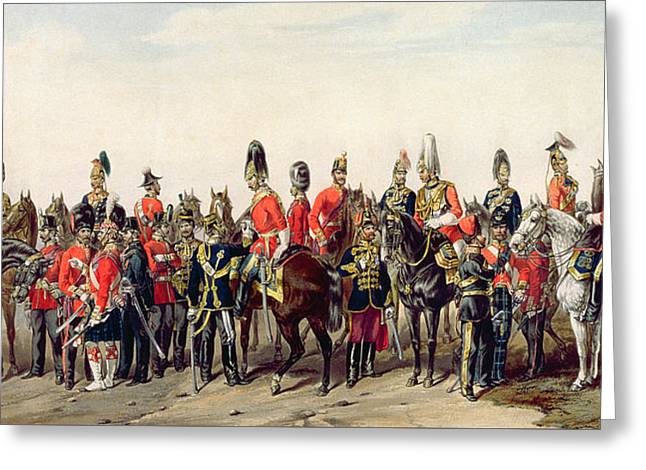 Uniforms Of The British Army Greeting Card by English School