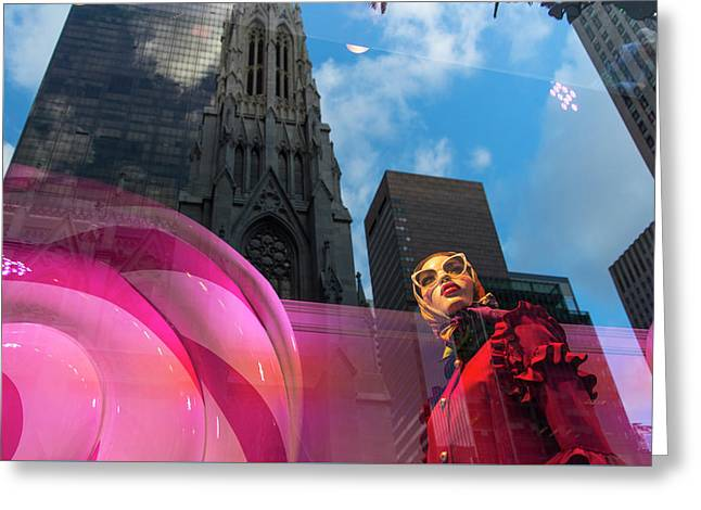 Greeting Card featuring the photograph Unimpressed In New York by Alex Lapidus