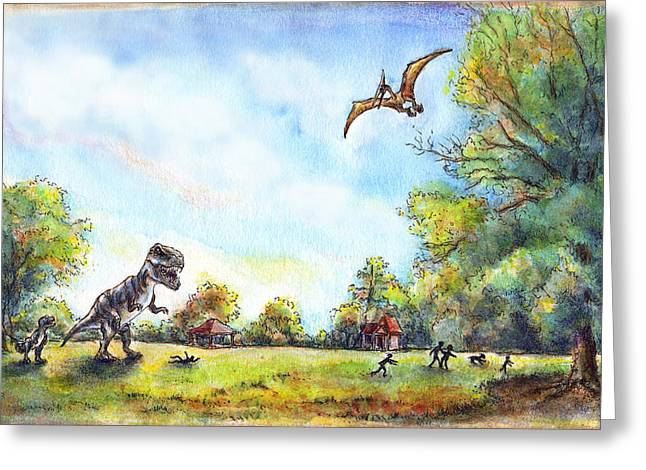 Uninvited Picnic Guests Greeting Card